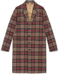 Gucci - Cappotto in lana a quadri - Lyst