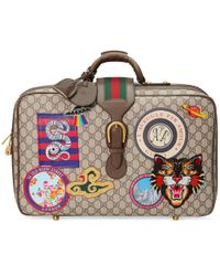 Gucci - Courrier Gg Supreme Suitcase - Lyst