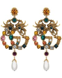 Gucci - Crystal Double G Earrings - Lyst