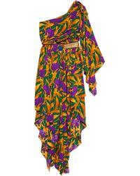 Gucci - Robe en soie fleurie - Lyst