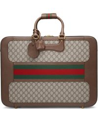 Gucci - Gg Supreme Suitcase With Web - Lyst