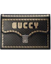 Gucci - Portfolio À Imprimé Guccy - Lyst