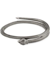 Gucci - Garden Silver Snake Bracelet - Lyst