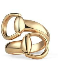 Gucci | Horsebit Ring In Yellow Gold | Lyst