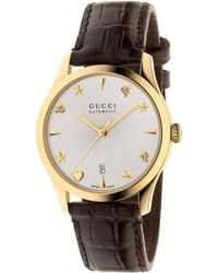 348cd69f6f0 Gucci G-timeless Medium Stainless Steel Watch in Metallic for Men - Lyst