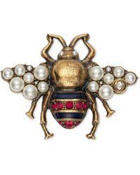 Gucci - Broche de Abeja con Cristales y Perlas - Lyst