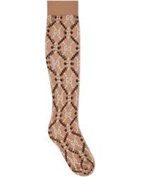 Gucci - Socken aus GG Rauten-Jacquard - Lyst