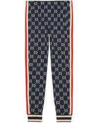 Gucci - Pantalone da jogging con motivo GG jacquard - Lyst