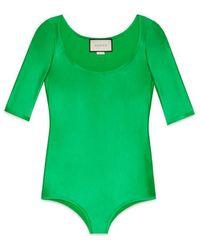 Gucci - Shiny Jersey Bodysuit - Lyst