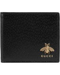 6f6bfa99de02 Gucci - Animalier Leather Wallet - Lyst