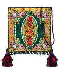 e2ea97d88c0 Lyst - Gucci Dionysus Floral Jacquard Top Handle Bag