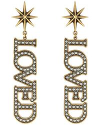 Gucci | Loved Pendant Earrings With Pearls | Lyst