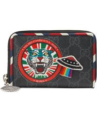301bc327609 Gucci - Night Courrier GG Supreme Card Case - Lyst