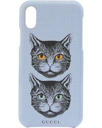 Gucci Étui pour iPhone X/XS à motif Mystic Cat