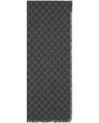 Gucci - Stola in lana con dettaglio Web e Doppia G - Lyst