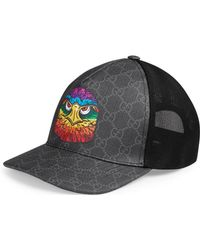 Gucci - GG Supreme Baseball Hat With Eagle - Lyst 7664777d4299