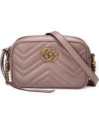 ce55059ec Gucci - Bolso de Hombro GG Marmont Pequeño de Matelassé - Lyst