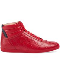 Gucci - Signature High-top Sneaker - Lyst