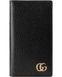 Gucci - Porta carte GG Marmont con tasca per iPhone 7/8 - Lyst