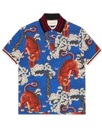Gucci - Bengal Print Polo - Lyst