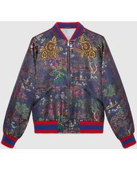 Gucci - Jacquard Bomber Jacket With Donald Duck - Lyst