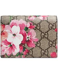 Gucci - Gg Blooms Canvas Card Case - Lyst