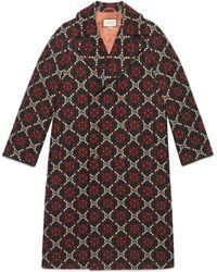 Gucci - Cappotto in lana con motivo GG diamanti - Lyst
