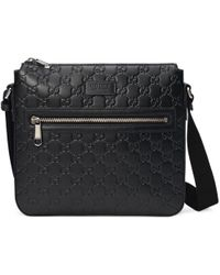 Gucci - Signature Leather Messenger - Lyst