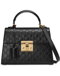Gucci - Padlock Signature Top Handle Bag - Lyst