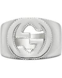 Gucci - Interlocking G Ring In Silver - Lyst