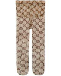 Gucci - Gg Pattern Tights - Lyst