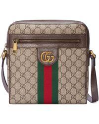 92c3b46f11c35b Gucci Black Gg Supreme Canvas Belt Bag in Black for Men - Lyst