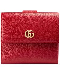 Gucci - Leather French Flap Wallet - Lyst