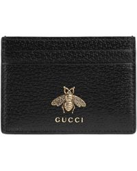 Gucci - Animalier Leather Card Case - Lyst
