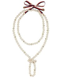 Gucci - Pearl Necklace - Lyst