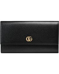Gucci - Leather Continental Wallet - Lyst