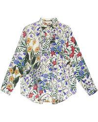 Gucci - Camicia Oversize Con Stampa 'new Flora' - Lyst