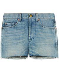 Gucci - Shorts aus Denim mit Patchs - Lyst