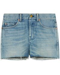 Gucci - Shorts in denim con patch - Lyst