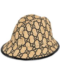 3c35990bf66 Gucci - GG Fedora Hat With Snakeskin - Lyst
