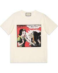 Gucci - Snow White Cotton T-shirt - Lyst