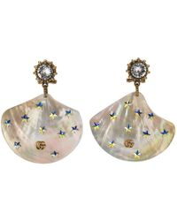 Gucci - Earrings With Shell Pendants - Lyst