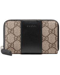 Gucci - Gg Supreme Zip Card Case - Lyst
