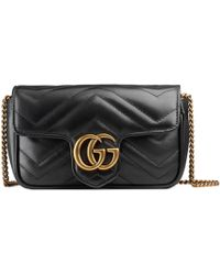 Gucci - Mini borsa GG Marmont in pelle matelassé - Lyst