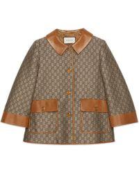 Gucci - Veste en toile de laine GG - Lyst b94940eebf3