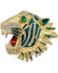 Gucci - Metal Tiger Head Brooch - Lyst