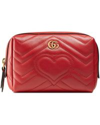 Gucci - GG Marmont Cosmetic Case - Lyst