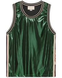 Gucci - Laminated Jersey Tank - Lyst