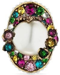 Gucci - Flower Ring With Resin Pearl - Lyst
