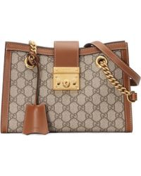 Gucci - Padlock Gg Supreme Canvas Shoulder Bag - Lyst